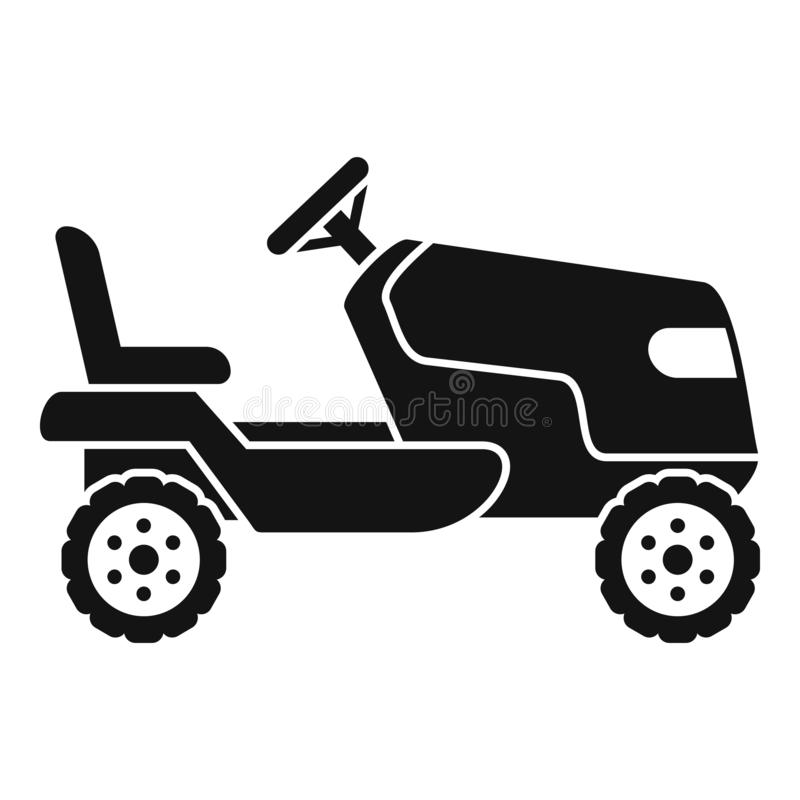 Tractor grass cutter icon, simple style. Tractor grass cutter icon. Simple illustration of tractor grass cutter vector icon for web design isolated on white royalty free illustration