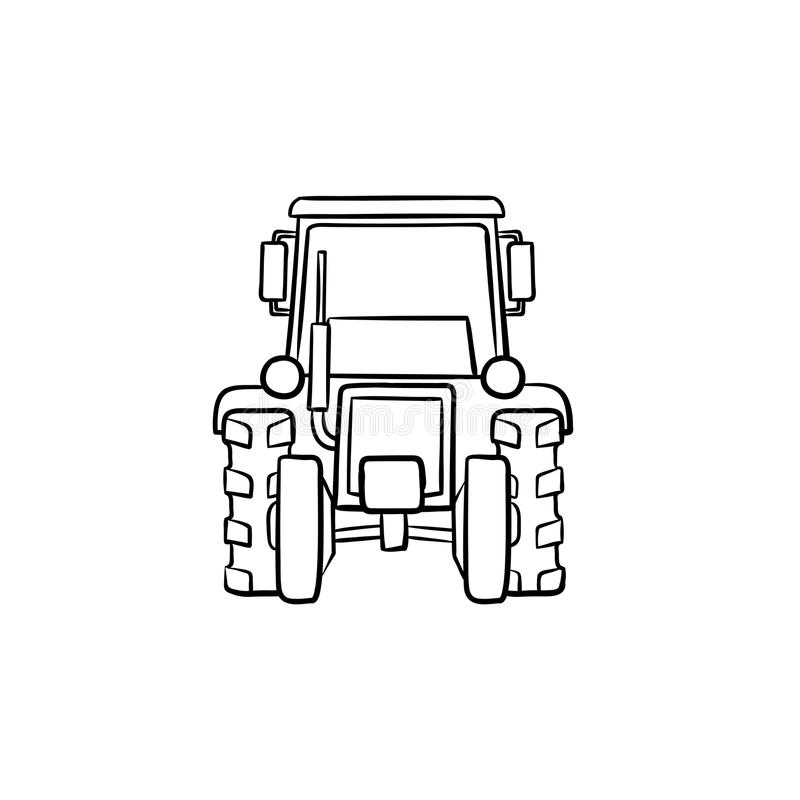 Tractor hand drawn sketch icon. Tractor hand drawn outline doodle icon. Agricultural industry equipment - tractor vector sketch illustration for print, web vector illustration