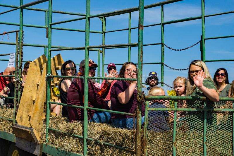 Tractor Hay Ride royalty free stock image