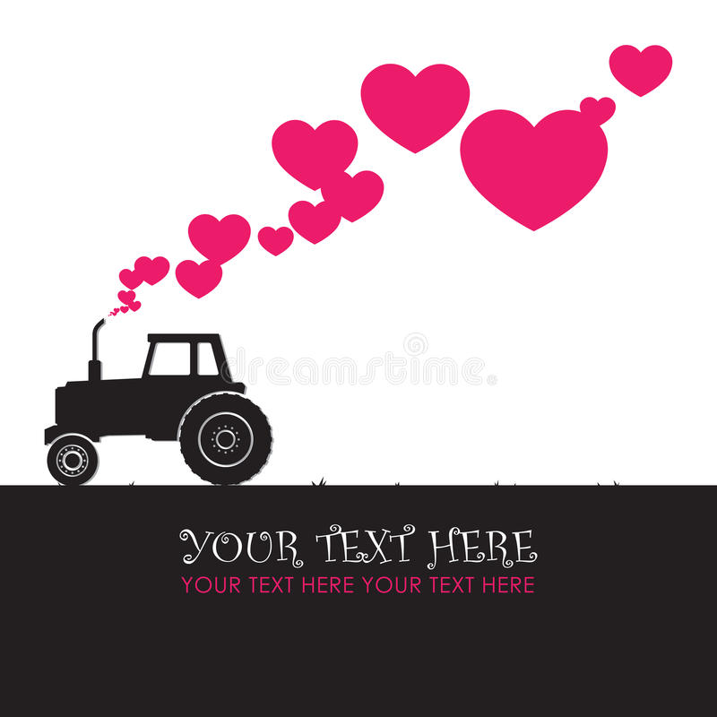 Download Tractor and hearts. stock vector. Illustration of greeting - 29083644