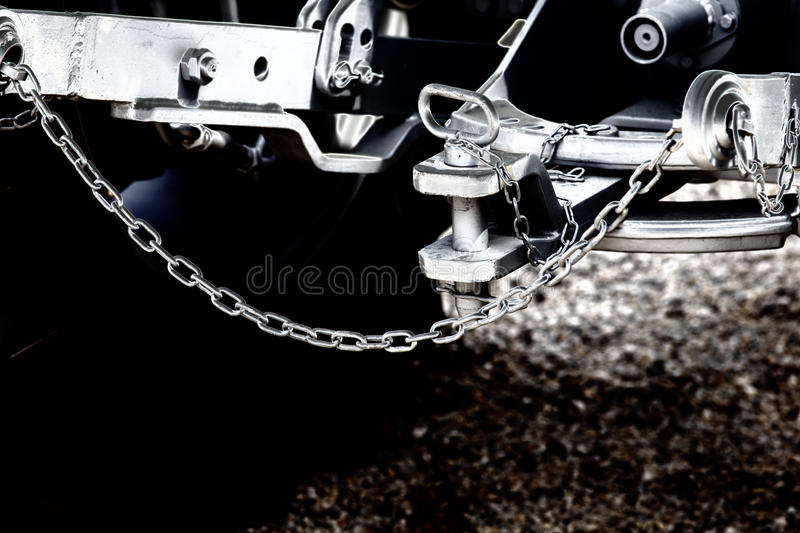 Tractor hitch and tow bar royalty free stock photo