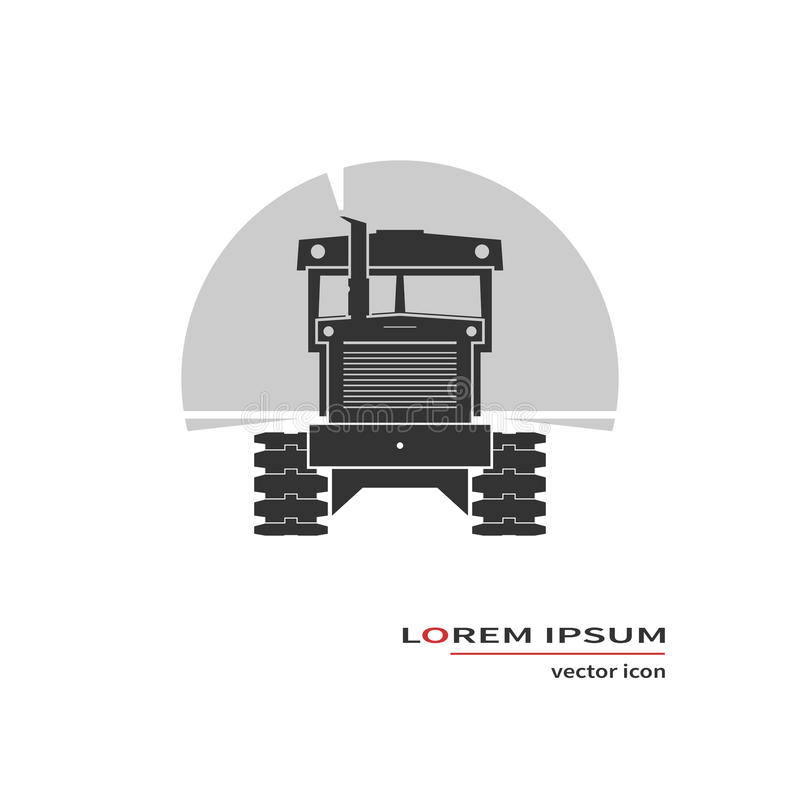 Tractor icon. On background. Vector illustration royalty free illustration