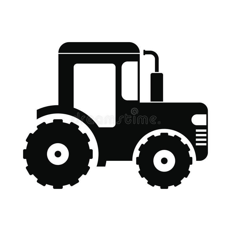 Tractor icon black. Tractor icon. Black simple style on white background royalty free illustration