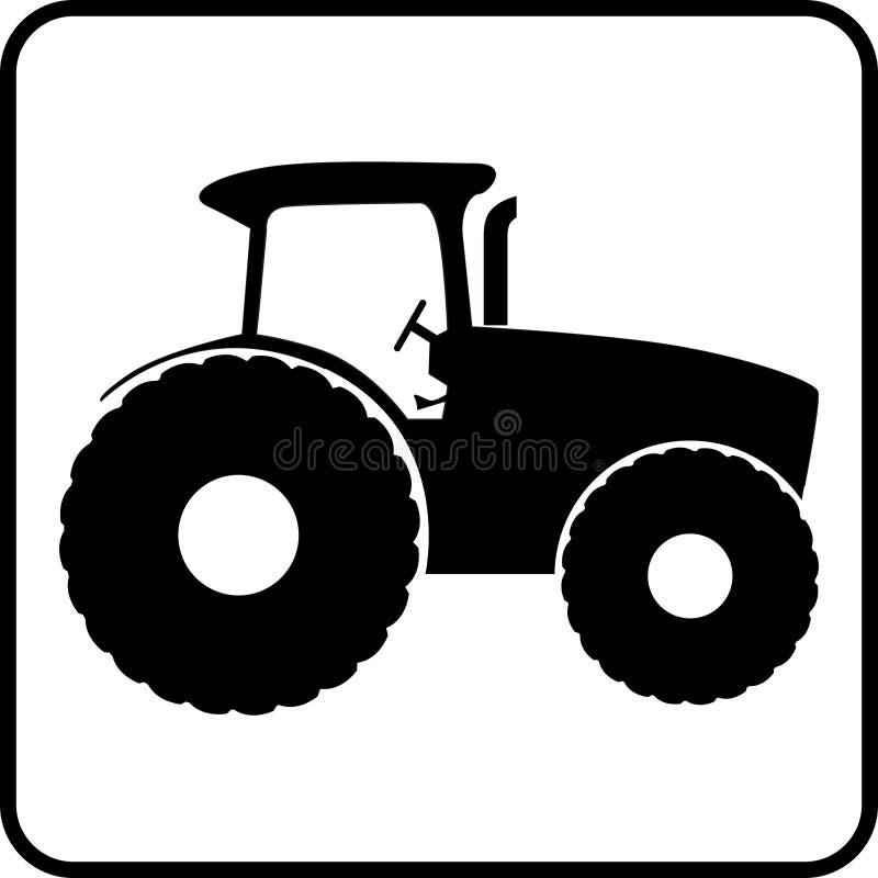 Tractor icon button. Vector illustration stock illustration