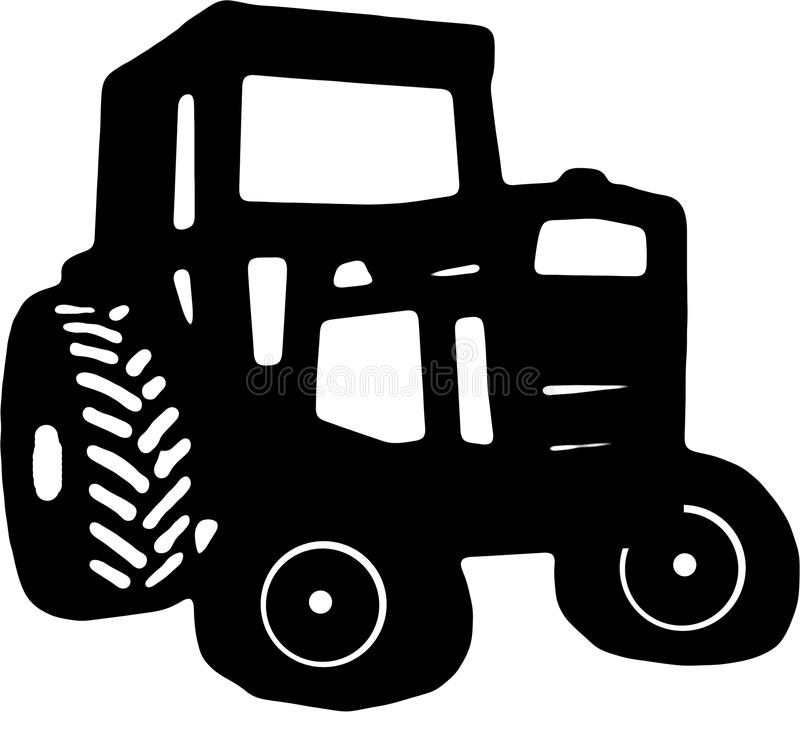 Tractor Icon drawing royalty free illustration