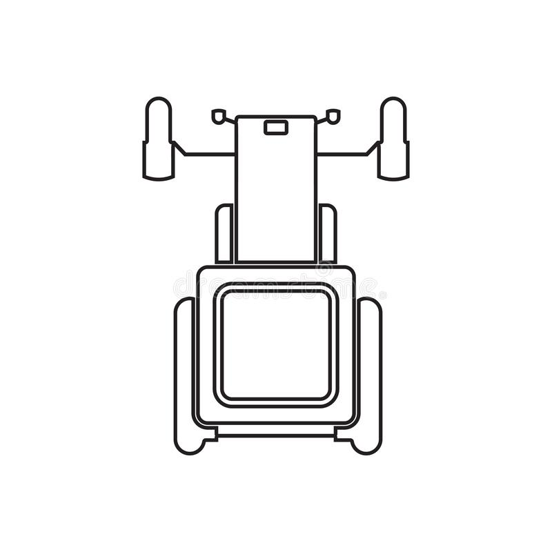 Tractor icon. Element of Transport view from above for mobile concept and web apps icon. Outline, thin line icon for website. Design and development, app royalty free illustration