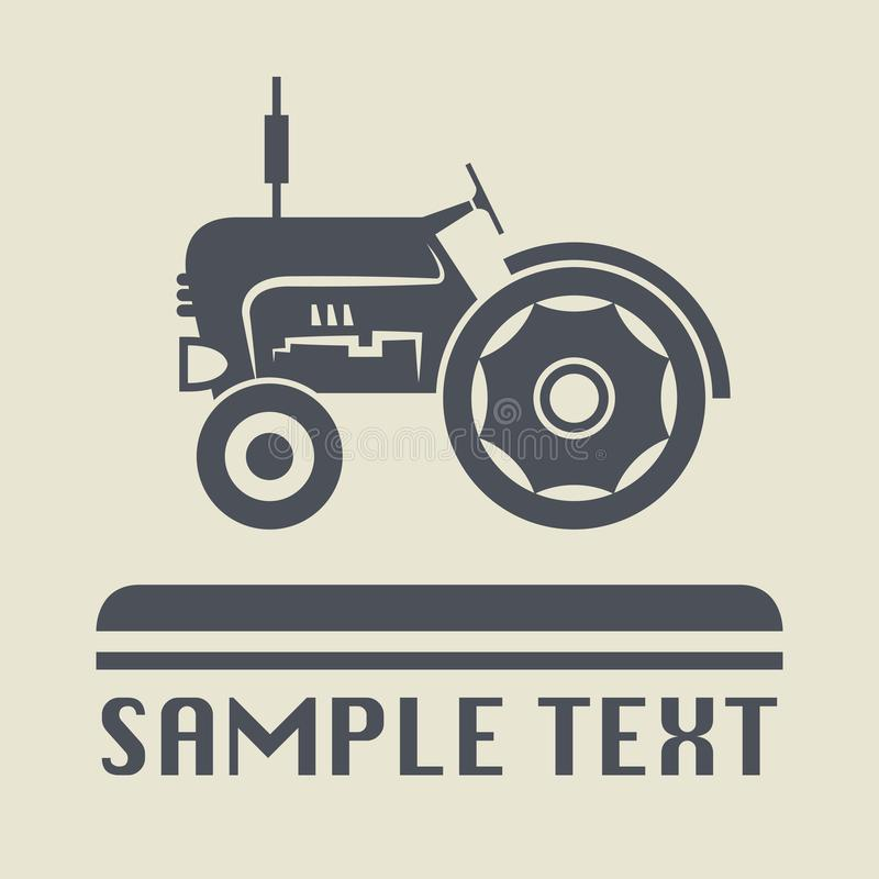 Tractor icon or sign. Vector illustration royalty free illustration