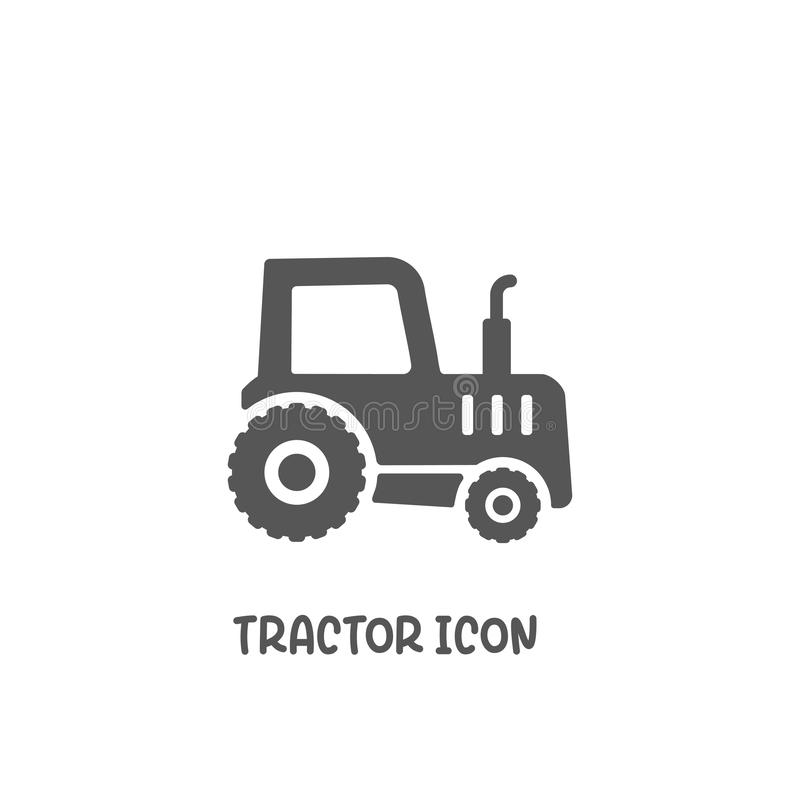 Tractor icon simple flat style vector illustration vector illustration