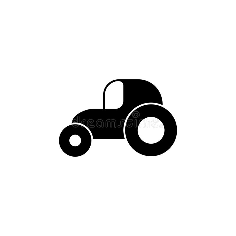 Tractor icon. Simple glyph vector of universal set icons for UI and UX, website or mobile application. On white background stock illustration