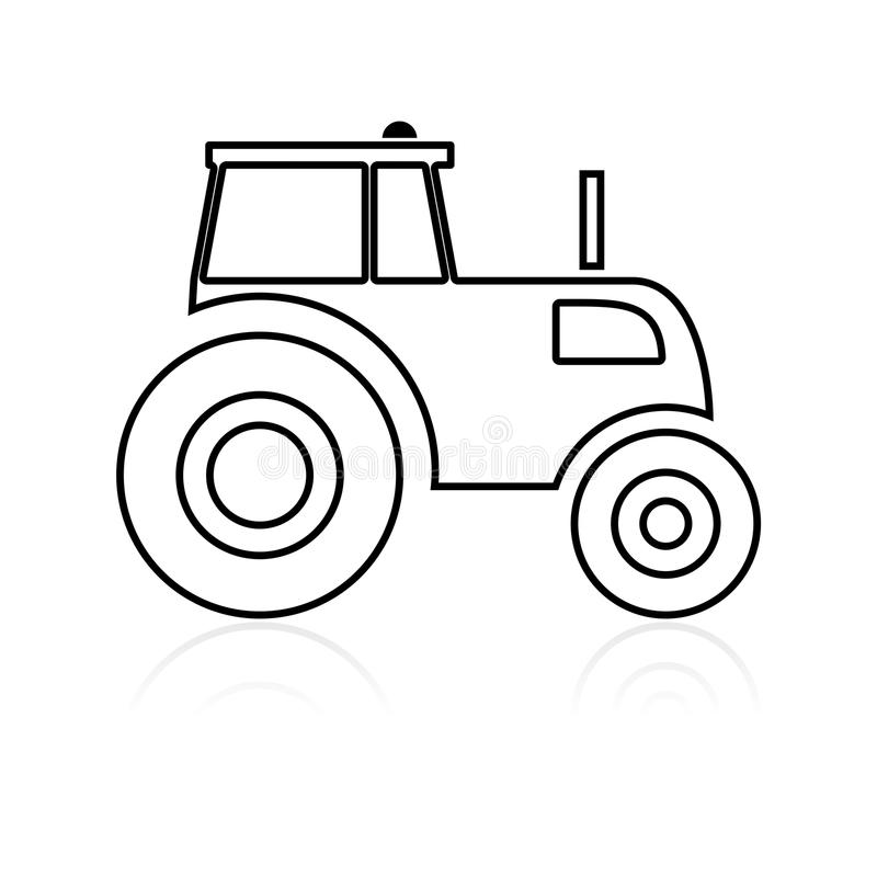 Tractor icon. Simple vector icon vector illustration