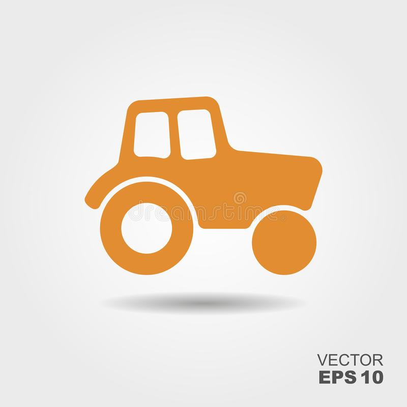 Tractor vector icon. Tractor Icon. Vector Illustration in flat style royalty free illustration