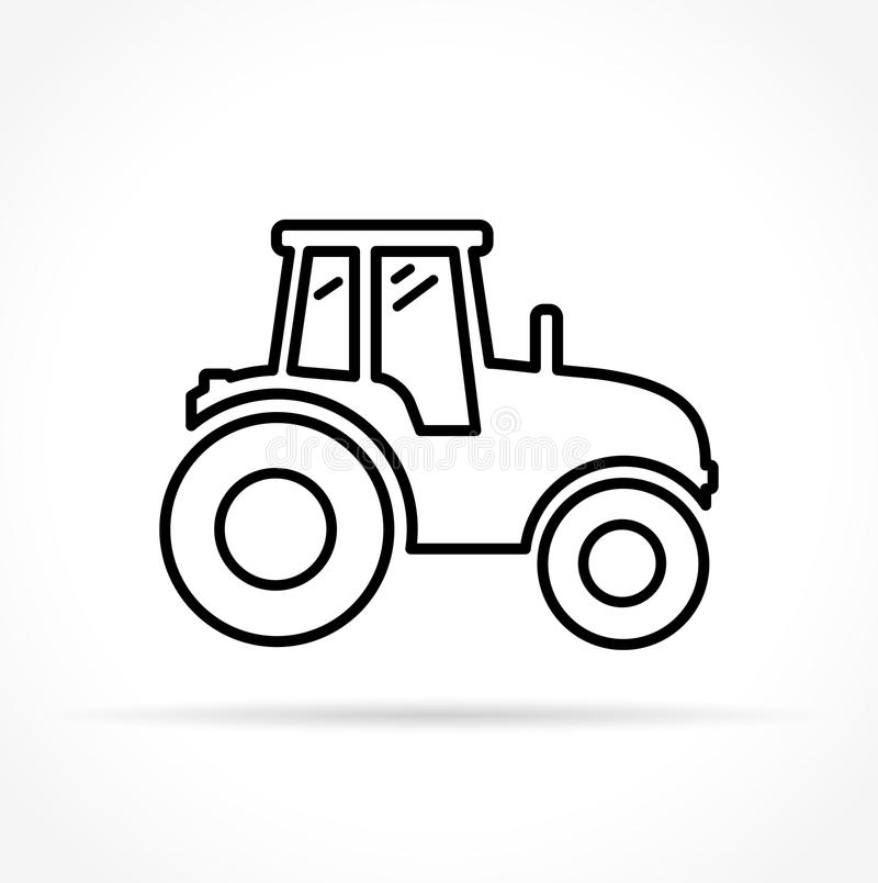 Tractor icon on white background stock illustration