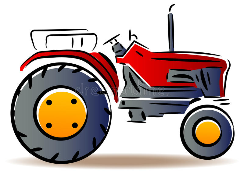 Tractor. Illustrated isolated tractor clip art image vector illustration