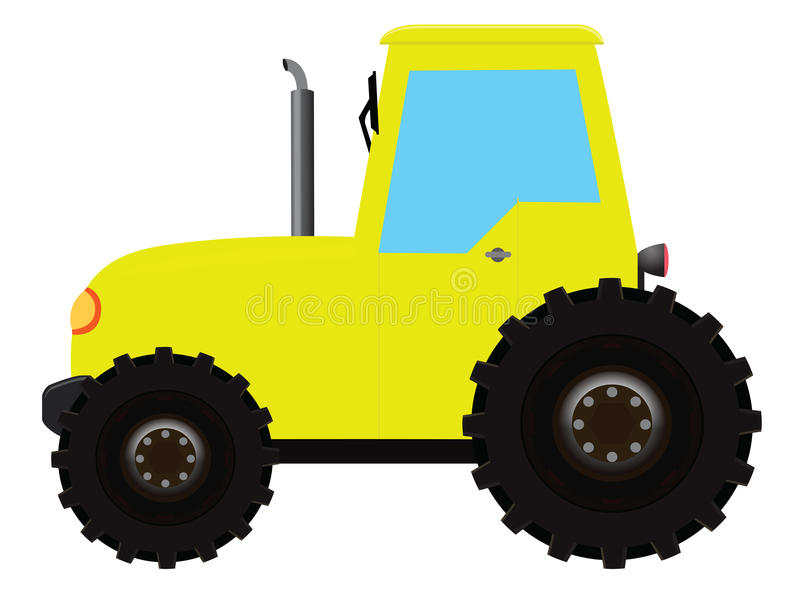 Tractor. Illustration yellow tractor on a white background vector illustration