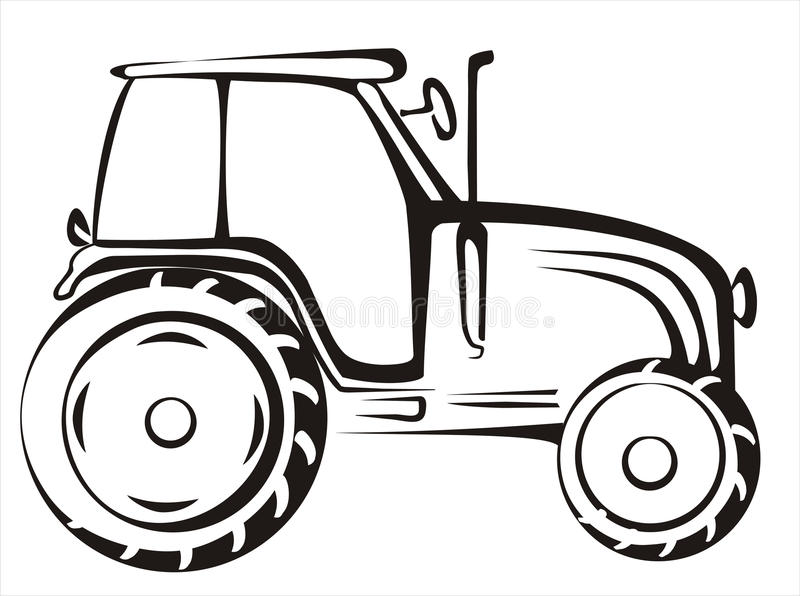 Tractor isolated vector illustration royalty free illustration