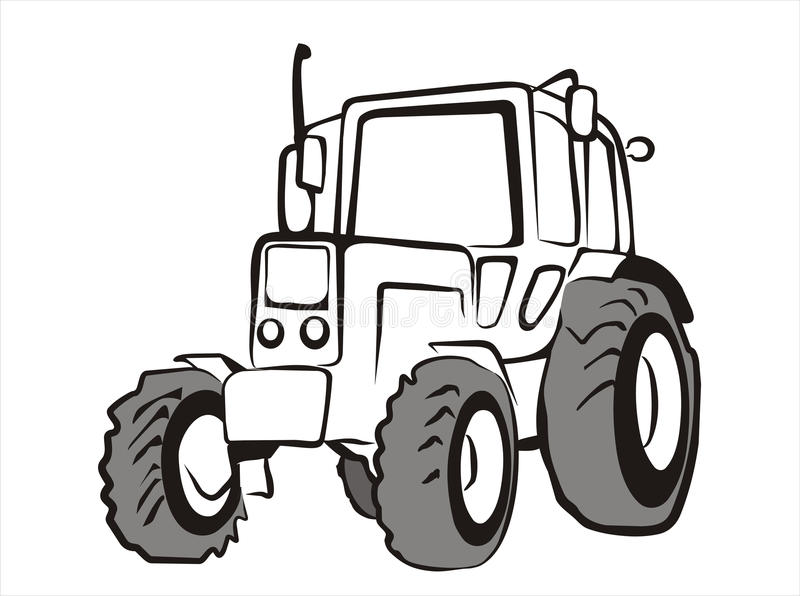 Simple Tractor Clip Art : Tractor isolated vector illustration stock photo image