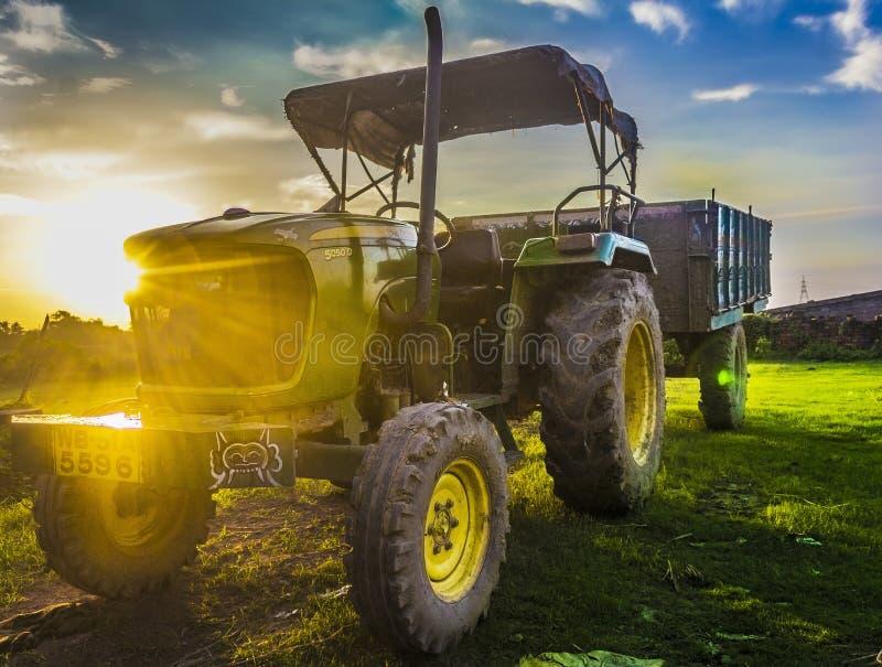 Tractor John Deere royalty-vrije stock afbeelding