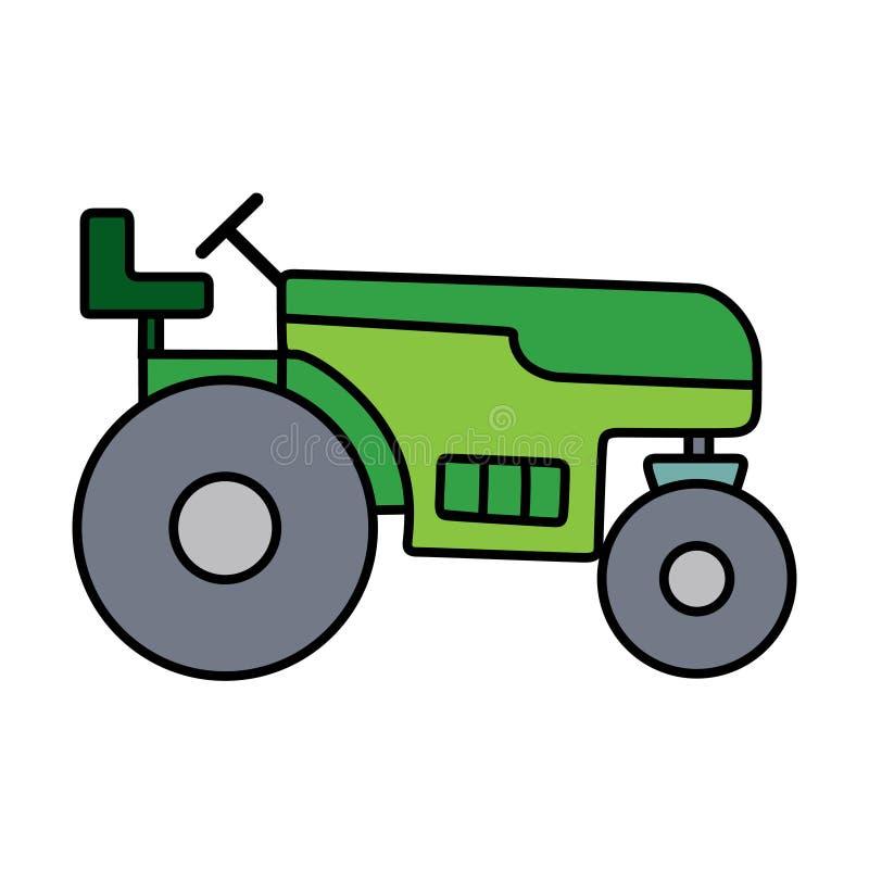 Tractor linear separado en el espacio blanco libre illustration