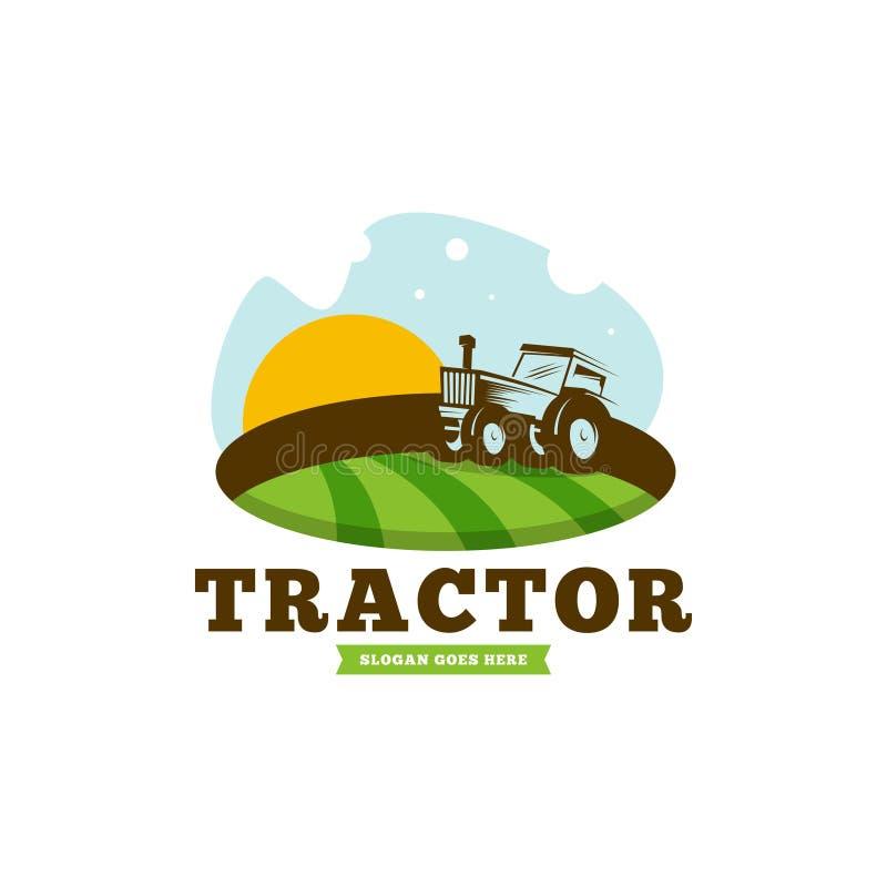 Tractor logo template vector. Tractor logo concept. Farming logo template royalty free illustration