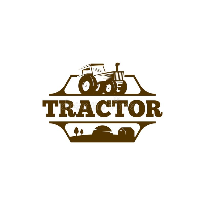 Tractor logo template vector. Tractor logo concept. Farming logo template vector illustration