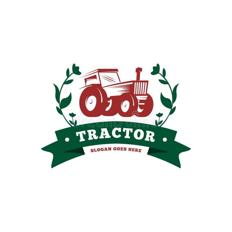 Tractor logo template vector. Tractor logo concept. Farming logo template royalty free illustration