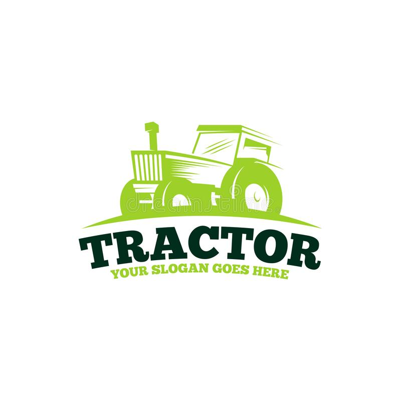 Tractor logo template vector. Tractor logo concept. Farming logo template stock illustration