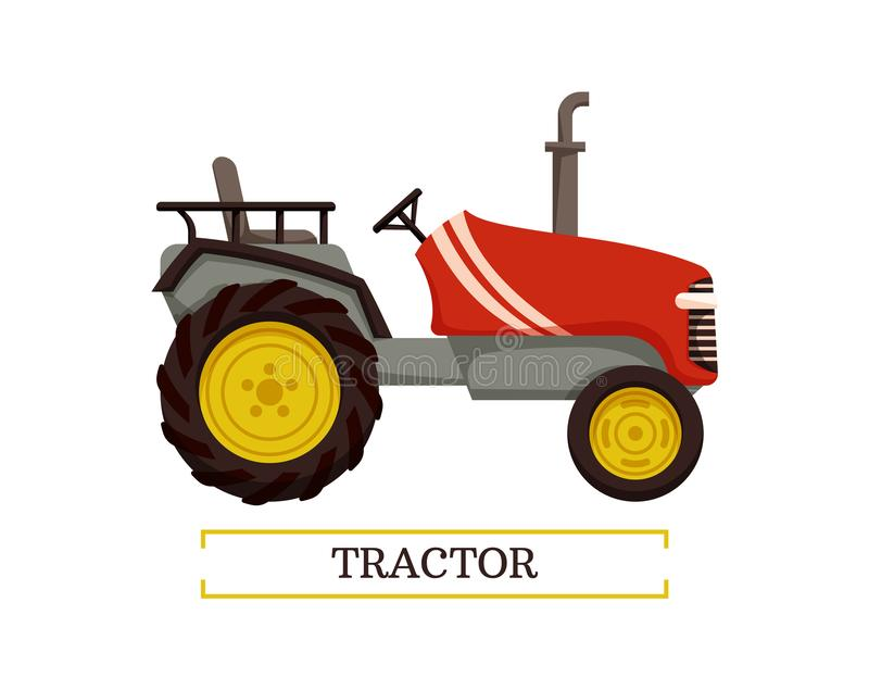 Tractor Machine with Pipe Vector Illustration vector illustration