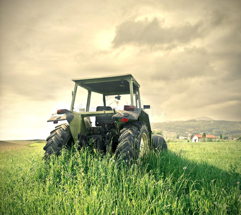 Download Tractor stock image. Image of sunrise, nature, meadow - 31804497