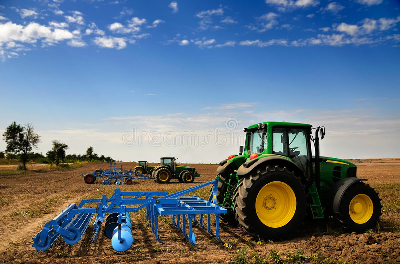 Tractor - modern agriculture equipment royalty free stock photos