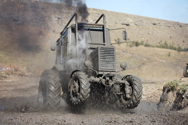 Tractor Mud Racing Royalty Free Stock Images