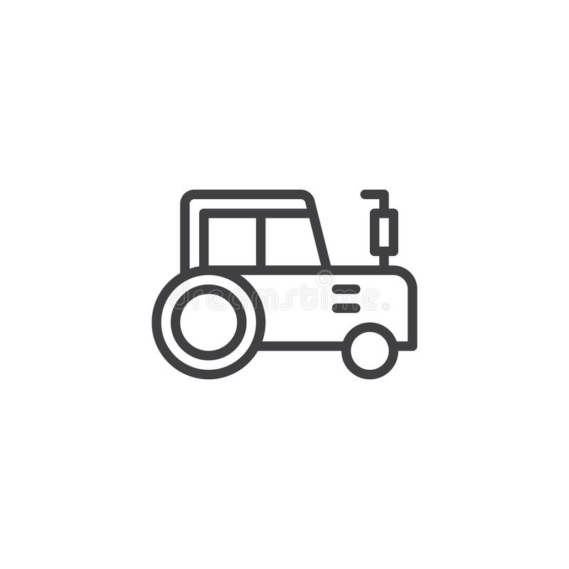 Tractor outline icon. Linear style sign for mobile concept and web design. agriculture simple line vector icon. Symbol, logo illustration. Pixel perfect vector vector illustration