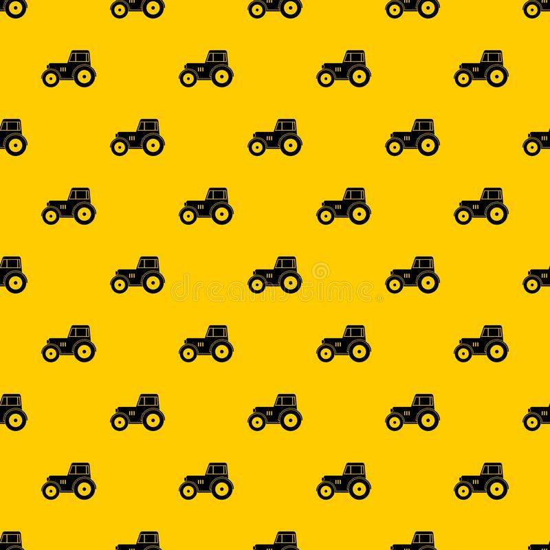 Tractor pattern vector. Tractor pattern seamless vector repeat geometric yellow for any design vector illustration