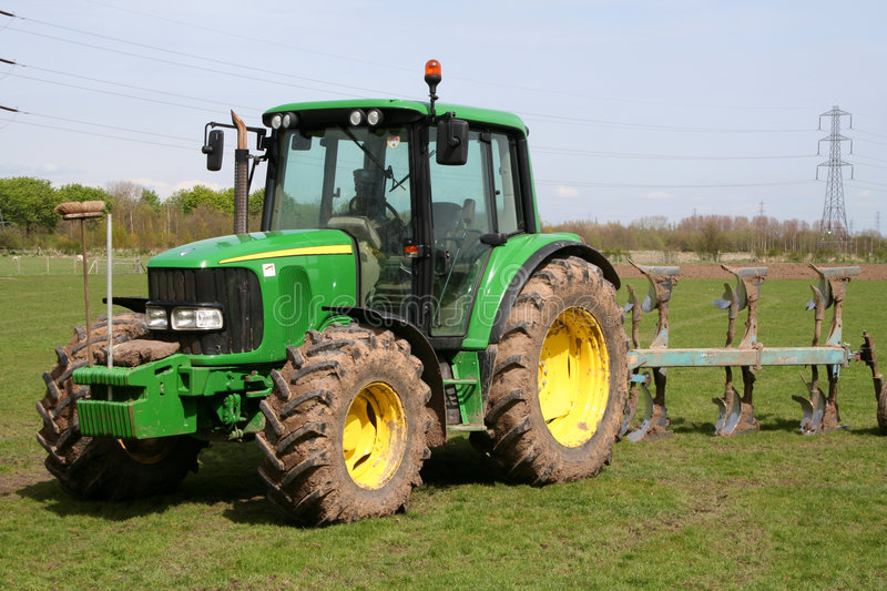 Tractor, Plough and Broom. royalty free stock images