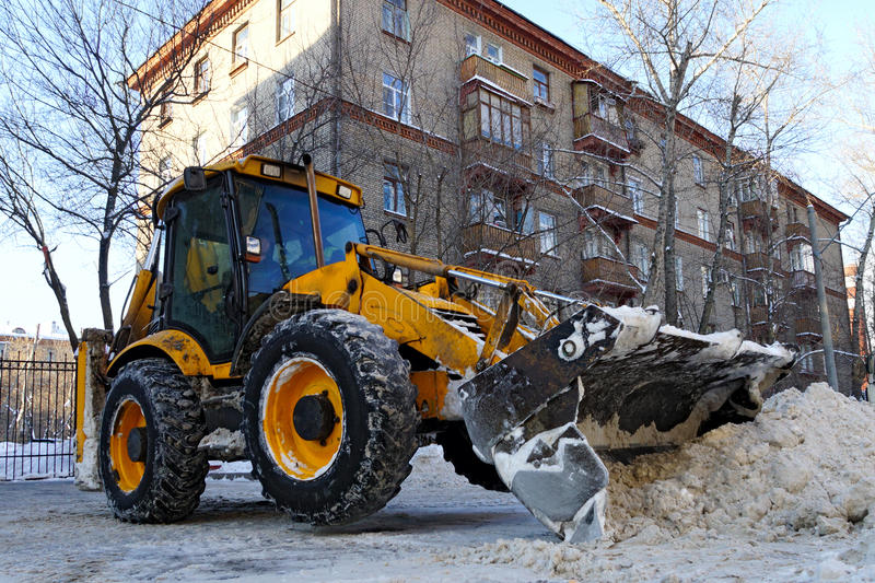 Download Tractor removes snow stock photo. Image of seasonal, tool - 29942674