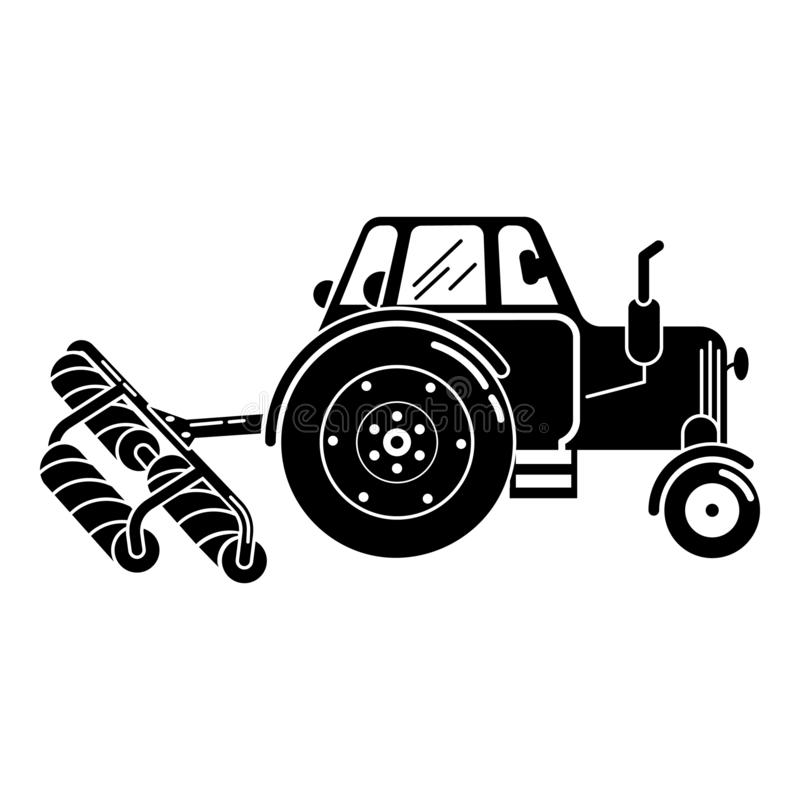 Tractor roller equipment icon, simple style. Tractor roller equipment icon. Simple illustration of tractor roller equipment vector icon for web design isolated stock illustration