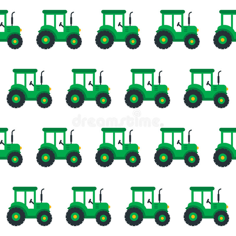 Tractor seamless vector illustration