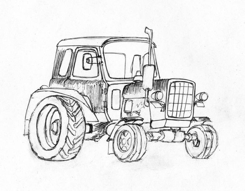 Tractor. Series of vehicles. royalty free stock photo