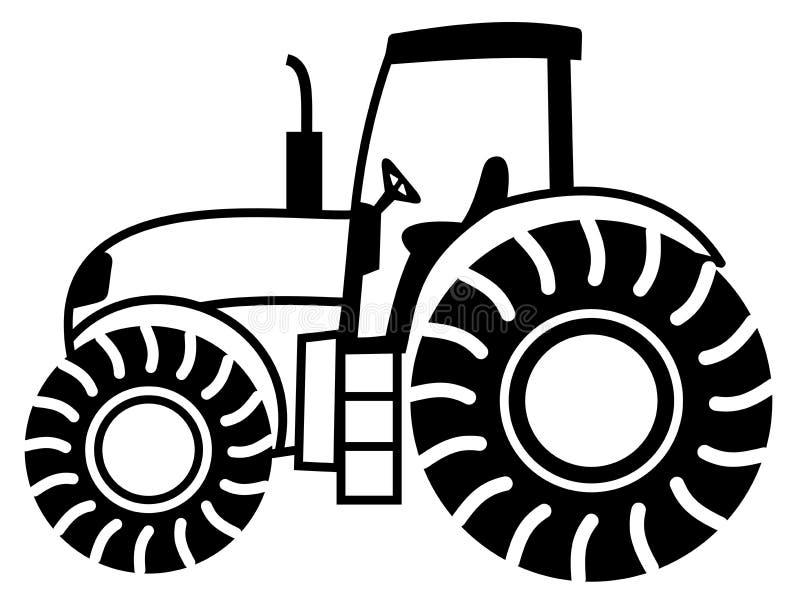 A tractor shadow black. Illustration stock illustration