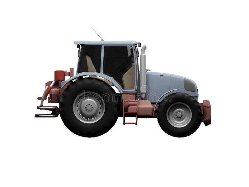 Download Tractor side view stock illustration. Image of rural, transport - 3425259