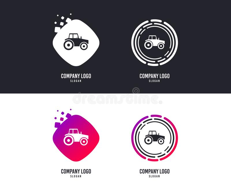 Tractor sign icon. Agricultural industry symbol. Vector royalty free illustration