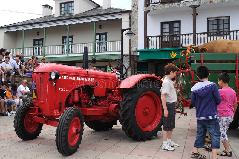 Tractor - Spain Editorial Stock Image