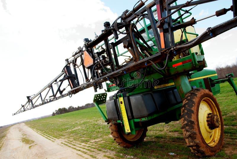 Tractor sprayer on open field 02 stock photo
