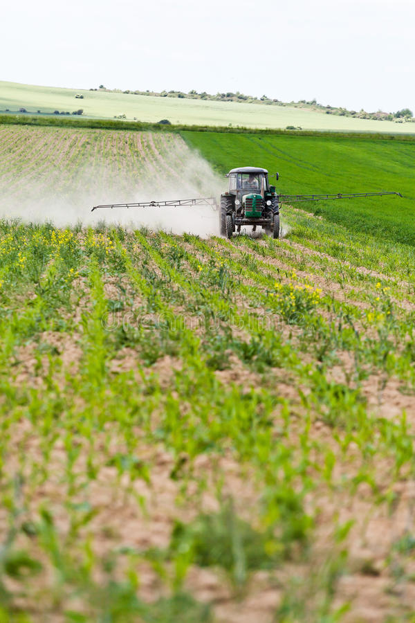 Download Tractor Spraying, Agriculture Stock Photo - Image: 25495860
