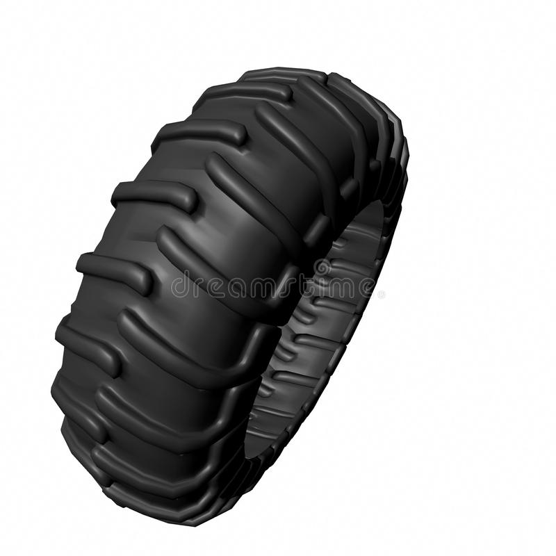 Tractor tire. Illustration in 3d of a tractor tire vector illustration