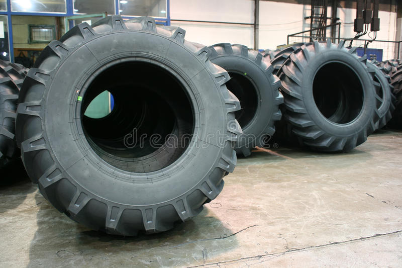 Tractor tires royalty free stock photos