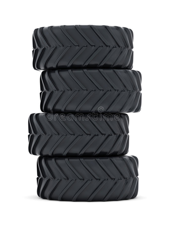 Tractor tires. On white background vector illustration