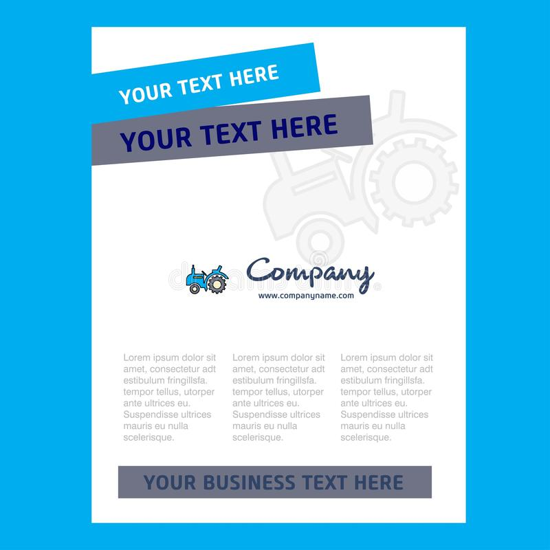 Tractor Title Page Design for Company profile ,annual report, presentations, leaflet, Brochure Vector Background. This Vector EPS 10 illustration is best for royalty free illustration
