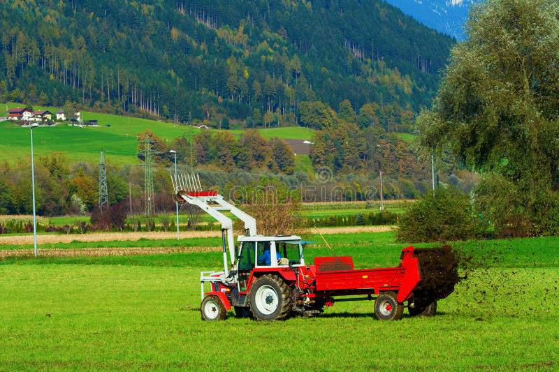 Download Tractor with a trailer stock photo. Image of fertilizer - 23781598