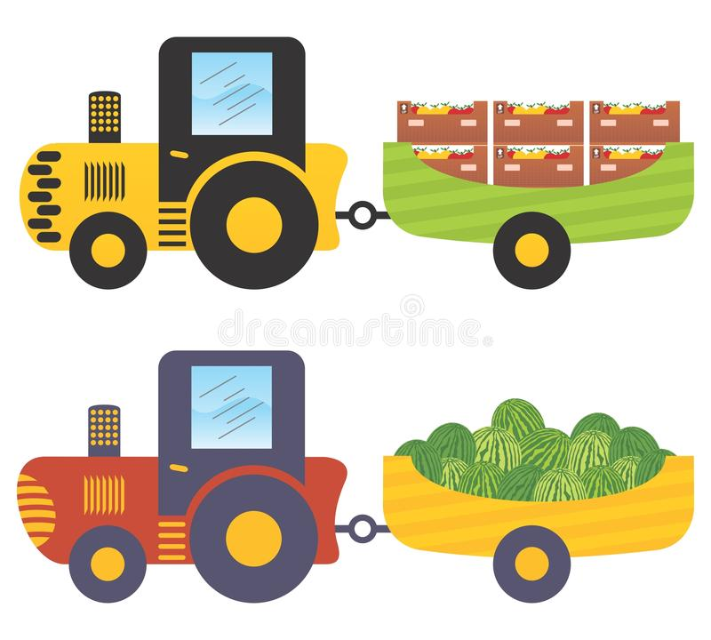 Tractor With Trailer Royalty Free Stock Images