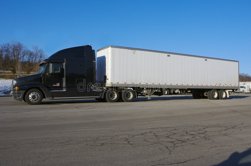 Download Tractor Trailer stock image. Image of blue, rest, truck - 474651